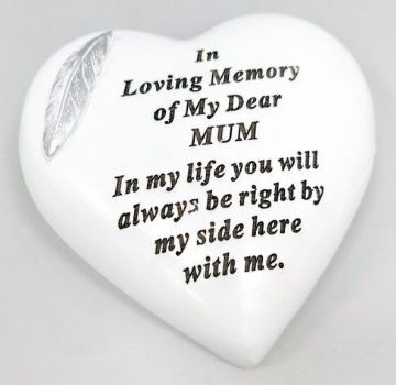Large 15cm In Loving Memory of My DEAR MUM Grave Stone  DF17973E